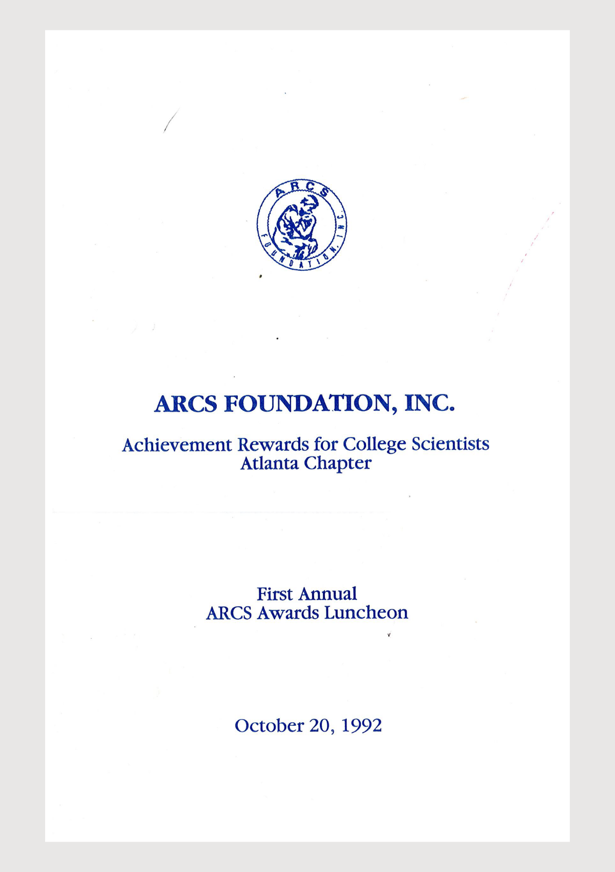 1992 ARCS Atlanta Yearbook