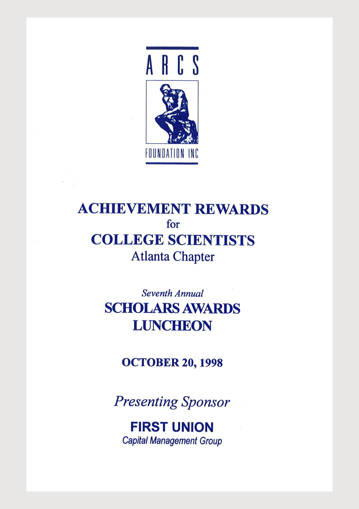 Scholar Yearbook 1998