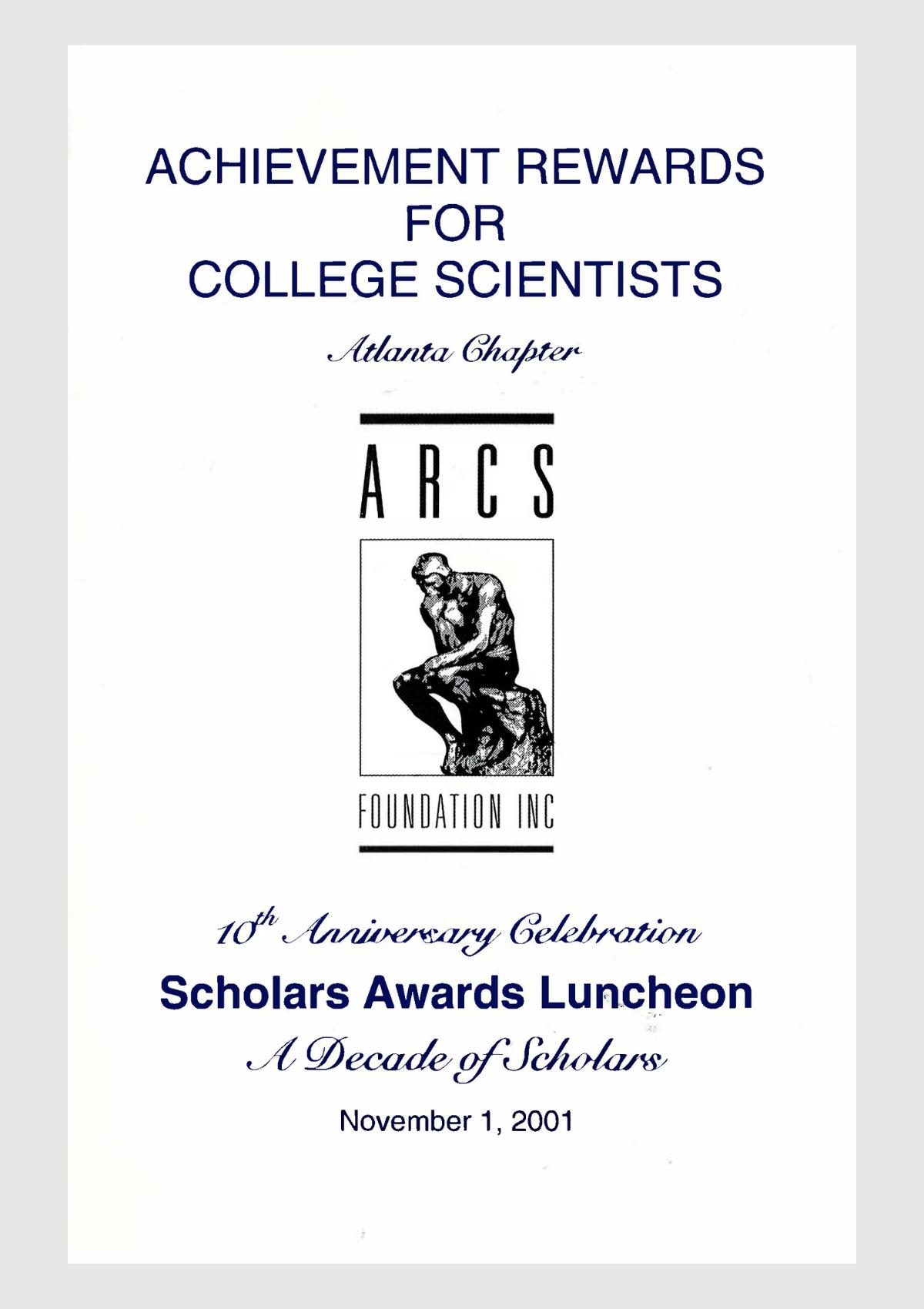 Scholar Yearbook – 2001