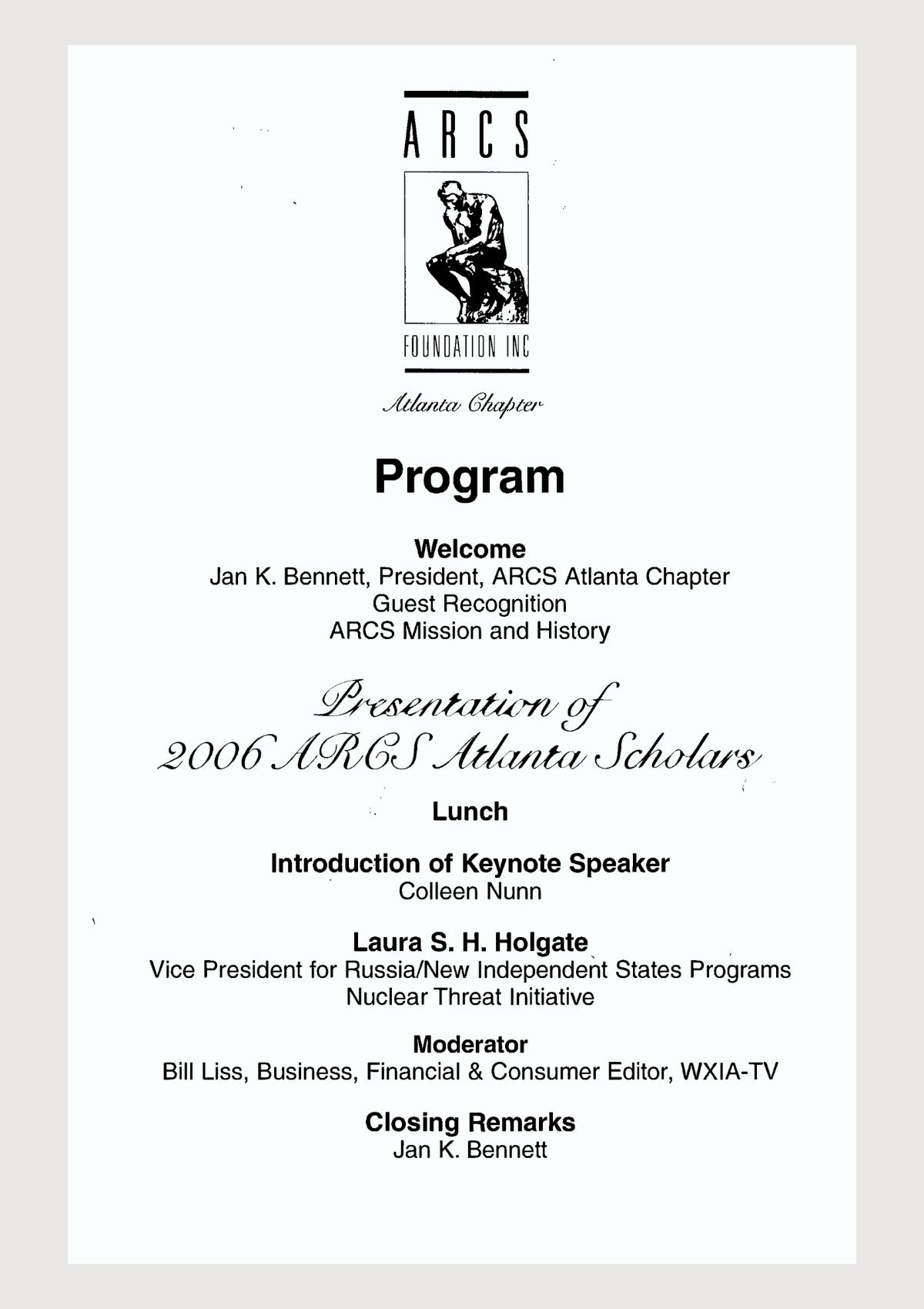 Scholar Yearbook – 2006